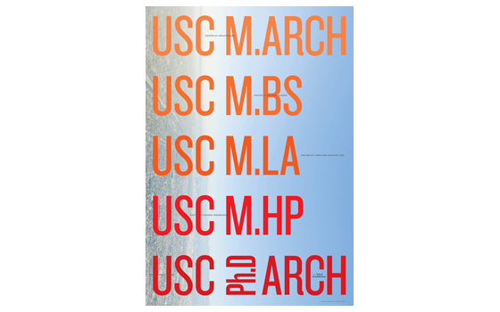 USC School of Architecture Masters poster